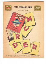 THE SPIRIT  7-19-42       Will Eisner