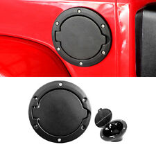 Black Powder Coated Steel Gas Fuel Tank Gas Cap Cover 2007-2018 Jeep Wrangler