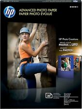 "NEW HP 20-Count 5"" x 7"" Glossy Advanced Photo Paper White CG812A Print Picture"