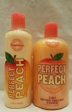 Bath and Body Works PERFECT PEACH 3-IN-1 BODY WASH BUBBLE BATH SHAMPOO & LOTION