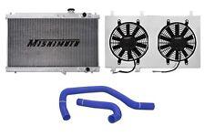 MISHIMOTO Radiator+Fan Shroud+Hose Kit Blue 94-01 Acura Integra MT DC2