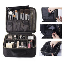 Makeup Cosmetic Case Beauty Artist Storage Bag Holder Organizer  Black fashion