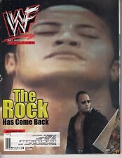 The Rock September 2001 Chris Jericho Poster Wrestling Magazine Raw WWE WWF /q3
