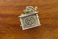 Vintage silver BEAUCRAFT ANTIQUE COFFEE BEAN MILL GRINDER MOVABLE charm BEAU