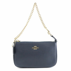 COACH  53077 Accessory pouch logo Leather