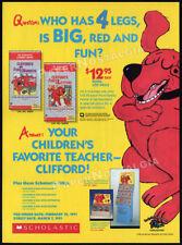 CLIFFORD - the BIG RED DOG__Original 1991 Trade print AD promo__Scholastic / FHE