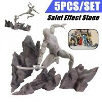 5Pcs Soul Tamashii Effect Impact Rock Grey For SH Figuarts Anime Action