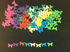 Embellishments Punched Card Butterflies 15x10mm Mixed Colours Qty 160