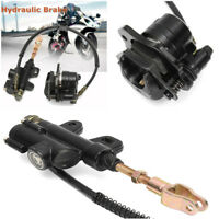 1x Motorcycle Hydraulic Rear Disc Brake Caliper System W/ 50cm Cable