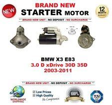 Para BMW X3 E83 3.0 D xDrive 30D 35D 2003-2011 Motor De Arranque Nuevo 1.8 kW 9 dientes