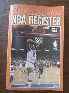 1983-84 The Sporting News TSN NBA Register Moses Malone on the Cover