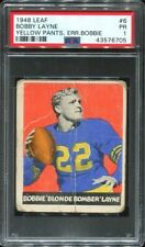 1948 Leaf #6 Bobby Layne RC PSA 1 Chicago Bears HOF .