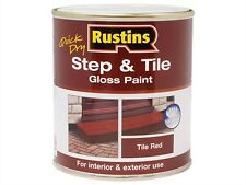 Rustins 1L Quick Dry Gloss Step And Tile Paint Tile Red Interior And Exterior