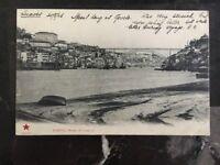 1905 Porto Portugal Real Picture Postcard Cover RPPC Luiz I Bridge To England