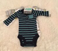 NWT Child of Mine by Carter's Baby Boy Long Sleeve Bodysuits, 3-Pack, 12 Months