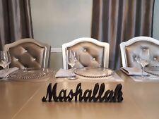 Black Stainless Steel Mashallah Islamic Art3D Table Decor (HANDMADE)