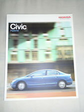 Honda Civic Hybrid range brochure Aug 2007