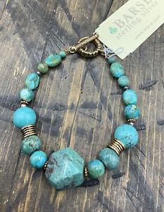 Barse Idlewild Toggle Bracelet- Turquoise- Bronze- NWT