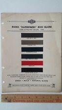 1936 FORD Standard - Original Exterior Color Chips - Paint Color Samples