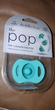 New Sealed. The Pop The Cleaner Pacifier Natural Shape 0-6 Months Doddle & Co
