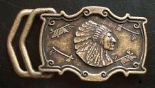1 A Western Boucle De Ceinture Pour 4 Cm Ceinture Geronimo nouveau genre Chausses de cuir indien Métal #