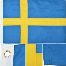 Sweden 2' x 3' Ft 210D Nylon Premium Outdoor Embroidered Swedish Flag