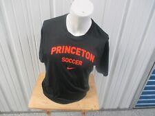 VINTAGE NIKE PRINCETON TIGERS SOCCER XL DRI-FIT BLACK T-SHIRT PREOWNED