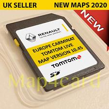 Dernier V10.45 renault Tomtom Carminat Vis Carte SD Navigation GPS 2020 - 2021