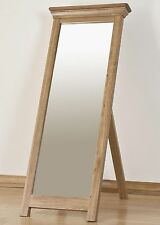 French solid oak bedroom furniture cheval full length mirror