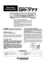 Bedienungsanleitung-Operating Instructions für Pioneer GR-777