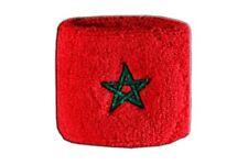 Schweißband Fahne Flagge Marokko 7x8cm Armband für Sport