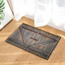 Rural barn door Kitchen Bath Bathroom Shower Floor Home Door Mat Rug Non-Slip