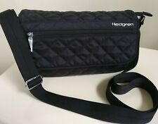 Hedgren Black Quilted Nylon Crossbody Bag Use Day Night Travel Gift Idea New