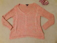 H&M Pink Multicolored Oversized knit Sweater Size Small