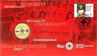 Australia  2014 PNC Red Cross Centenary 1914 - 2014 Carded $1 Coin & FDC stamp
