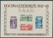 Germany SAAR French Occupation 1948 Flood Disaster M/S MLH SGMS255a Cat £1300