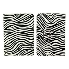 New Black White PU Leather Stand Case Zebra Print Folding Folio For iPad Mini