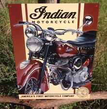 INDIAN MOTORCYCLE 1948 Chief Vintage Sign Tin Metal Wall Garage Rustic Old