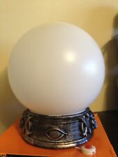 ANIMATED GLOWING WITCH FORTUNE TELLER CRYSTAL BALL LIGHTS TALKS EYE SKULL PROP
