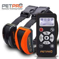 Petpro Remoto ADIESTRAMIENTO DE PERROS COLLARES y control automático de la corteza 800 M Impermeable 2dog