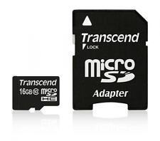 16 Go Carte mémoire MicroSDHC CL10 Transcend avec adaptateur SD