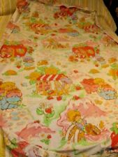 STRAWBERRY SHORTCAKE AMERICAN GREETINGS CORP TWIN FITTED SHEET VINTAGE *SWEET*