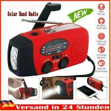 Solar Radio Handkurbel AM/FM Radio Notfall Handy Ladegerät LED Taschenlampe USB