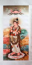 Rollbild Guanyin mit Weidenzweig chinesische Malerei Buddhismus Kwan Yin KuanYin