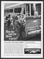 1961 Greyhound Scenicruiser Bus photo Charter a Party Today vintage print ad