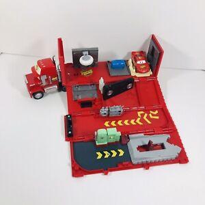 Disney Pixar Cars Mack Truck Hauler Super Liner & Lightning McQueen Car Playset