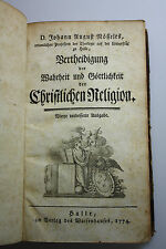 J.A. nösselt-Vertheidigung la vérité et göttichkeit D. Christl. Religion - 1774