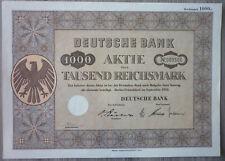 Acción, deutsche bank 1000rm, 1952, (art.3233)