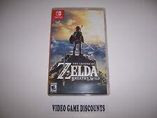 Original Box Case Replacement Nintendo Switch Legend of Zelda Breath of the Wild