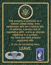 SN 007     173rd  Airborne warning sign